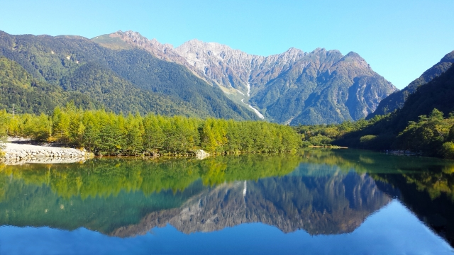 上高地 大正池の風景