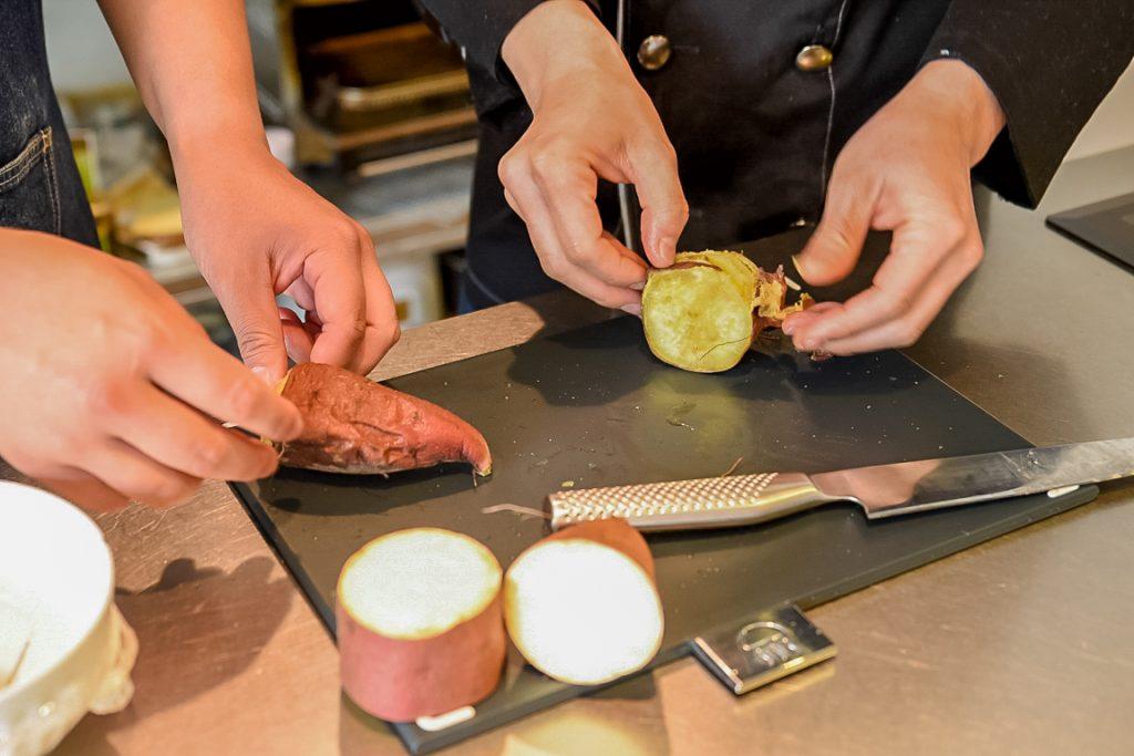 さつまいものティラミスクリーム 太郎メシ レシピ イタリアン 木内農園 なるとの金太郎